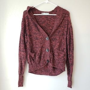 Red and Black Button Up Maurices Sweater